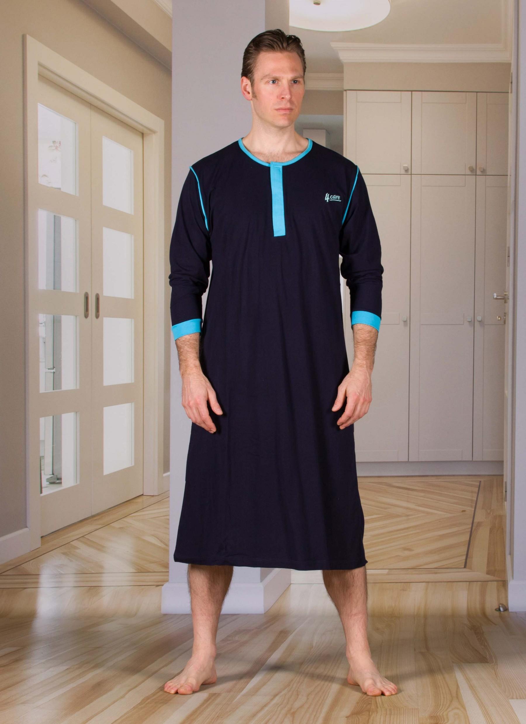 Koszula nocna ułatwiająca toaletę i pielęgnacje osób chorych  4ebx3